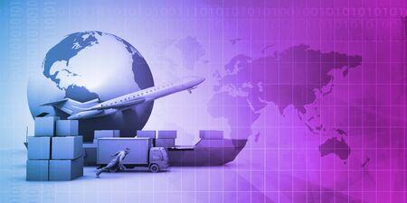 Logistyka i zarządzanie łańcuchem dostaw biznesowe abstrakcyjne tło