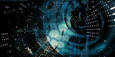 Multimedia-Technologie Digitale Geräte Information Concept Art