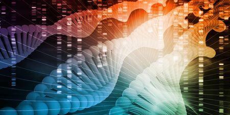 Séquence de code génétique de l'art des protéines d'ADN