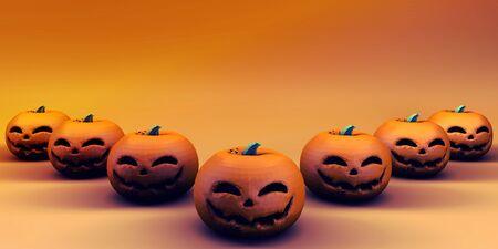 Halloween Background Side View Copy Space Season Stock Photo