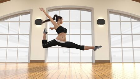 Beautiful Dancer with Modern Dance Female Stance