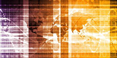 Concept d'économie d'approvisionnement mondial et des marchés internationaux