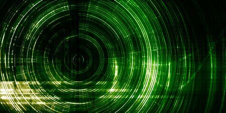 Data Storage Database Infrastructure as Futuristic Concept 版權商用圖片
