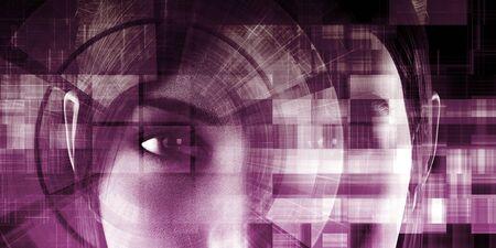 Concept d'apprentissage en profondeur et d'intelligence artificielle de la machine