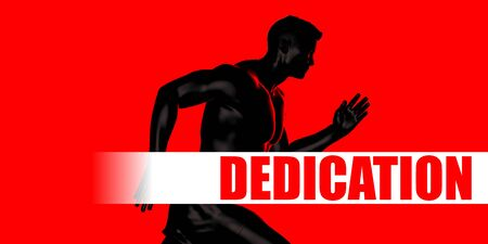 Dedication Concept with Fit Man Running Lifestyle