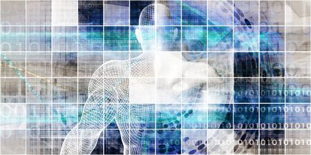 Medische technologie met geavanceerd zakelijk ontwerpconcept