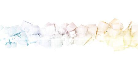 Creative Marketing Abstract Concept on White Background Zdjęcie Seryjne