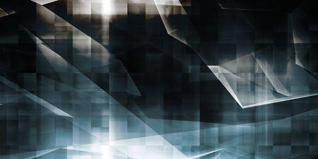 Futuristic Background with Blocks of Data as Tech Theme Zdjęcie Seryjne