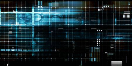 Datos digitales sobre un fondo tecnológico abstracto