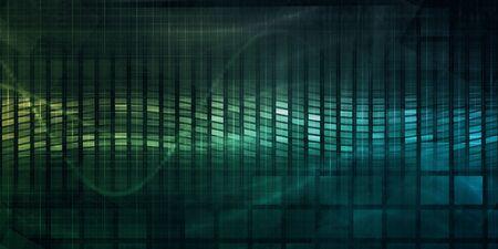 Global Software Company with Technology Data Art 版權商用圖片