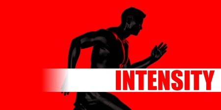 Intensity Concept with Fit Man Running Lifestyle