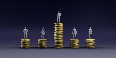 Economic Inequality and Unfair Income Pay Distribution Concept Reklamní fotografie