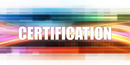 Certification Corporate Concept Exciting Presentation Slide Art