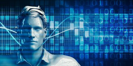 Business Man Using Data Analytics Technology Concept Background