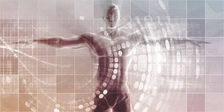 Wearable Technologies and Biometrics Tracking System Art