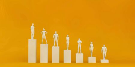 Business People Standing on Chart Graph as a Concept