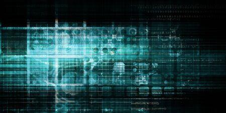 Cyber Security Professional as a Digital Concept Art Archivio Fotografico