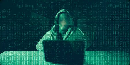 Hacker Stealing Data with Binary Data Technology Abstract