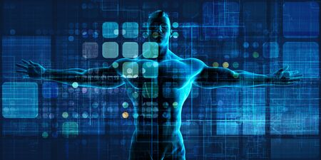 Man Embracing Technology and Being Empowered by Technologies