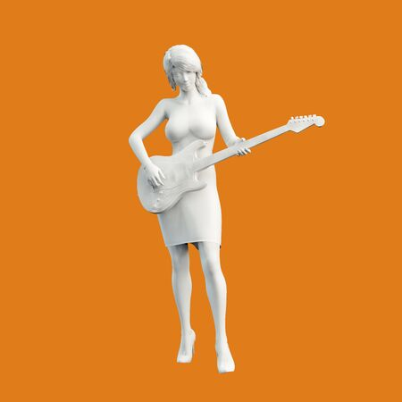 Guitar Player Musician Playing in Concert Concept