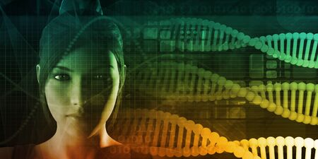Genetic DNA Sequence or Fingerprint Profiling Science Concept