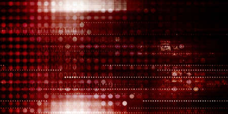 Red Danger Technology Virus Warning Security Background