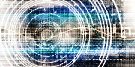 Data Tracking and Surveillance Chart Analysis Art Imagens