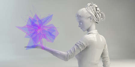 Science Background for Futuristic Presentation Concept Art