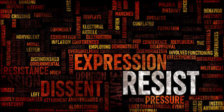 Resist Concept as an Abstract Background Banner