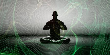 Mindfulness Meditation Awareness of Feelings and Emotions Foto de archivo