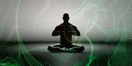 Mindfulness Meditation Awareness of Feelings and Emotions Stock Photo