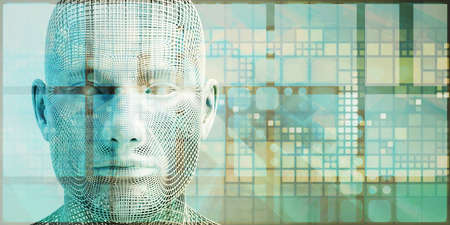 Machine Learning AI Artificial Intelligence Abstract Concept Stock fotó