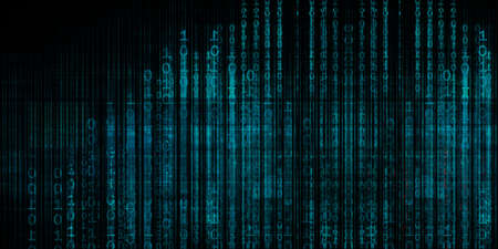Binary Technology Futuristic Abstract Background as a Concept