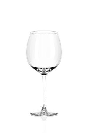 Empty wine glass isolated on white background. Archivio Fotografico - 135585031