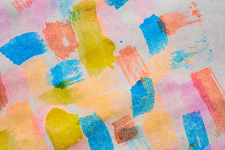 Abstract background with acrylic paint on canvas, grunge background with space for text or image, spots of watercolor paint, colorful bright texture.