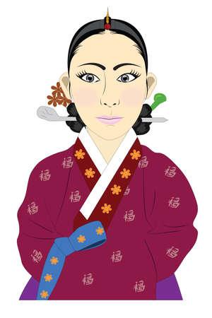 Korean hanbok photo