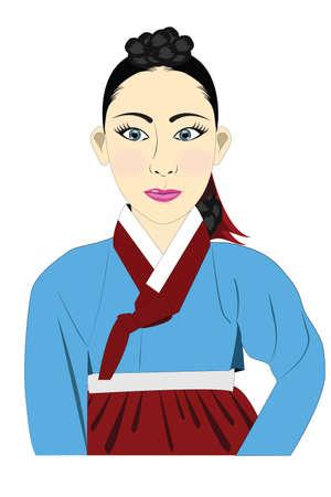 hanbok: Korean hanbok lady