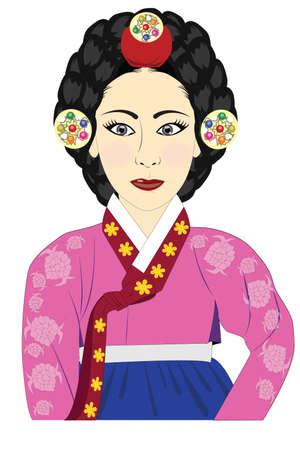 hanbok: Queen korean Stock Photo