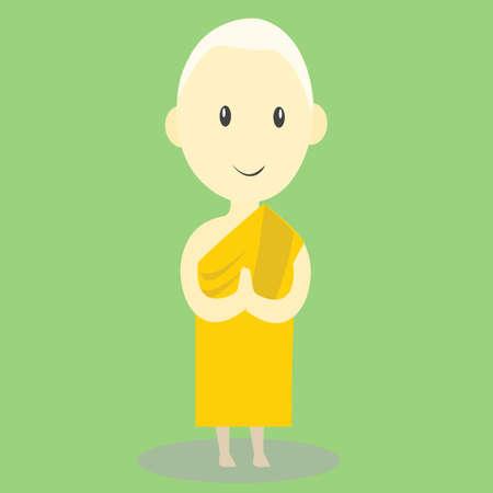 buddhist monk: Buddhist Monk Beg Stock Photo