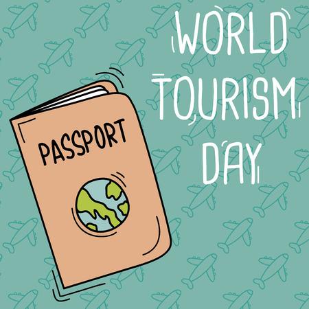International tourism day Ilustrace