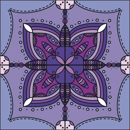 Purple mandala background 일러스트