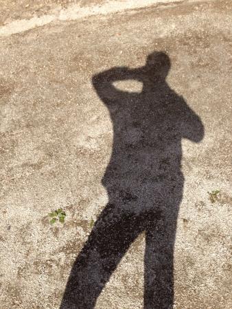 La sombra de una persona presentación Foto de archivo - 23755588