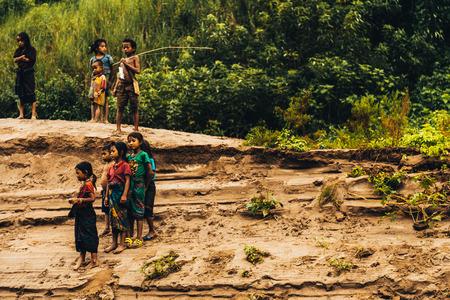 fishingnet: Tribal kids of the Mekong river in Laos
