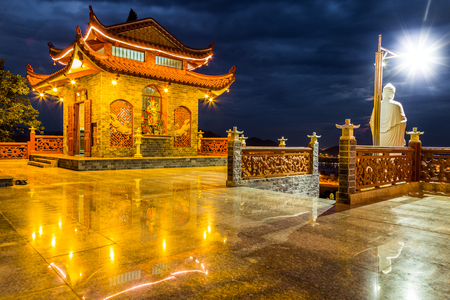 Temple at night Stock Photo
