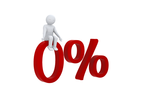 sits: 3D man sits on 0 percent
