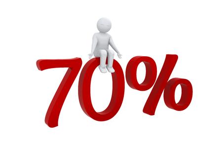 humane: 3d human sits on 70 percent