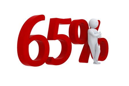 65: 3D human leans against 65
