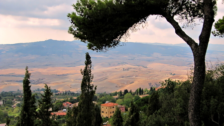tuscan: Tuscan Landscape Stock Photo