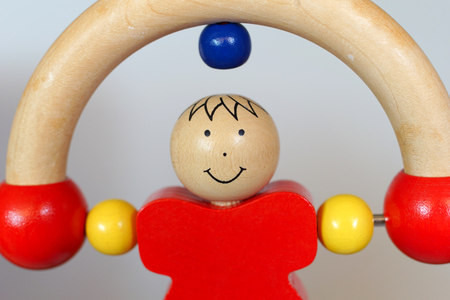 somersault: Baby wood toy - rolling one