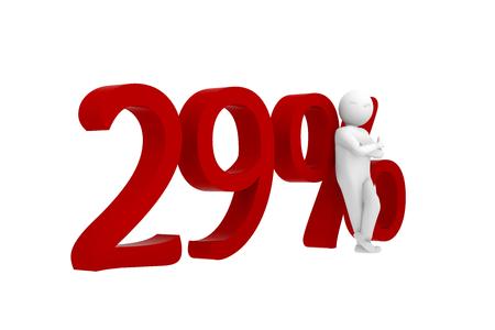 3d human leans against 29%